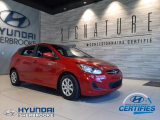 Used 2014 Hyundai Accent GL+DEMARREUR+BANCS CHAUF+BLUETOOTH+CRUIS for sale in Sherbrooke, QC