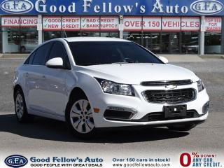 Used 2016 Chevrolet Cruze LT MODEL, 1.4 LITER, RAERVIEW CAMERA for sale in Toronto, ON