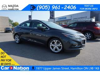 Used 2018 Chevrolet Cruze Premier Auto PREMIER | LEATHER | REAR CAM | XM RADIO for sale in Hamilton, ON
