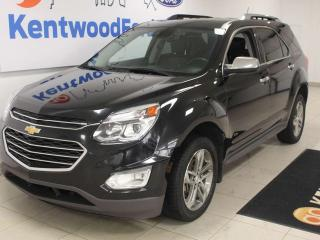 Used 2016 Chevrolet Equinox LTZ AWD with sunroof, heated power leather seats and power liftgate for sale in Edmonton, AB