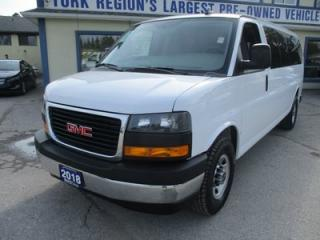Used 2018 GMC Savana 1-TON PEOPLE MOVING 15 PASSENGER 6.0L - V8.. TOW SUPPORT.. AUX INPUT.. AIR CONDITIONING.. KEYLESS ENTRY.. TOW SUPPORT.. for sale in Bradford, ON