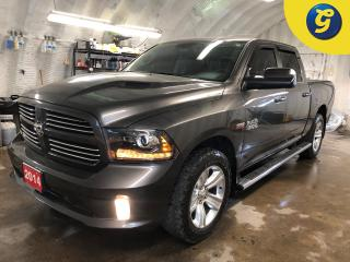 Used 2014 RAM 1500 Sport * 4X4 * Crew Cab * Hemi * Navigation * Leather * Heated mirrors * Power windows/mirrors/locks * Tow hitch w/ 6 pin connect * Trailer assist * 20 for sale in Cambridge, ON