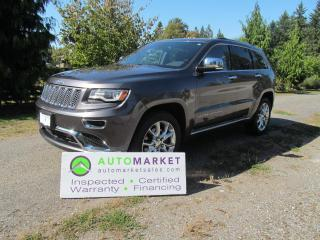 Used 2014 Jeep Grand Cherokee SUMMIT, DIESEL, 4X4, NAVI, PANI ROOF, INSP, BCAA MBSHP, WARR ANF FINANCING! for sale in Surrey, BC