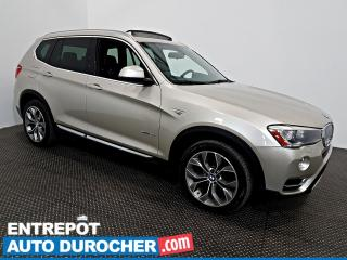 Used 2015 BMW X3 XDrive28i AWD NAVIGATION - Toit Ouvrant - A/C - for sale in Laval, QC