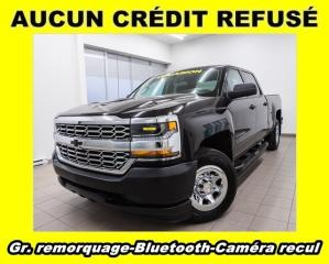 Used 2018 Chevrolet Silverado 1500 4X4 CREW BLUETOOTH CAMÉRA RECUL *GR. REMORQUAGE* for sale in St-Jérôme, QC
