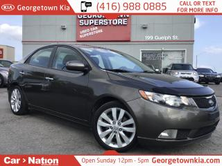 Used 2011 Kia Forte 2.4L SX LEATHER| SUNROOF| ALLOYS| HTD SEATS| for sale in Georgetown, ON