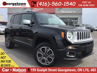 Used 2015 Jeep Renegade Limited | 4X4 | LEATHER | BU CAM|BLU TOOTH|ALLOYS for sale in Georgetown, ON