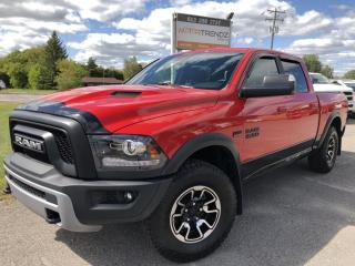 Used 2017 RAM 1500 Rebel Crew with Heated Steering and Seats! BackupCam, AutoStart, Bluetooth, Integrated Trailer Brake for sale in Kemptville, ON