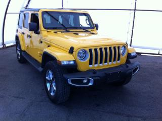 Used 2019 Jeep Wrangler Unlimited Sahara NAVIGATION, FACTORY REMOTE STARTER, COLD WEATHER GROUP, PUSH START IGNITION for sale in Ottawa, ON