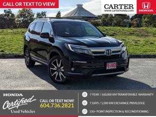 Used 2019 Honda Pilot Touring LEATHER INTERIOR + HEATED STEERING WHEEL + POWER LIFTGATE + NAVIGATION! for sale in Vancouver, BC
