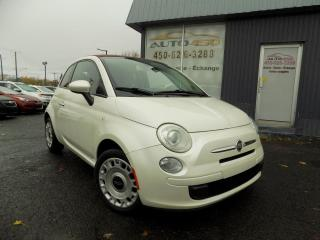 Used 2013 Fiat 500 C ***POP,DECAPOTABLE,BAS KILO,AUTOMATIQUE, for sale in Longueuil, QC