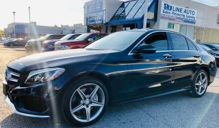 Used 2016 Mercedes-Benz C-Class NAVI|1 OWNER|PANOROOF|360 CAMERA|BLIND SPOT|CERTIFIED for sale in Concord, ON