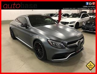 Used 2017 Mercedes-Benz C-Class C63 S AMG COUPE HUD DISTRONIC MATTE FINISH! for sale in Vaughan, ON
