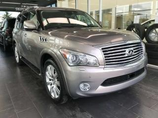 Used 2013 Infiniti QX56 7-pass 4WD, ACCIDENT FREE, HEATED STEERING WHEEL, POWER HEATED/VENTED LEATHER SEATS, NAVI for sale in Edmonton, AB
