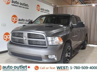 Used 2012 RAM 1500 Sport, 5.7L V8, Crew cab, 4x4, Short box, Heated/Cooled leather seats, Heated steering wheel, Backup camera, Sunroof, Bluetooth for sale in Edmonton, AB