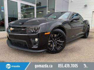 Used 2015 Chevrolet Camaro ZL1 MANUAL HUD LEATHER SUNROOF PRACTICALLY NEW for sale in Edmonton, AB