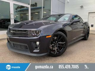 Used 2014 Chevrolet Camaro ZL1 MANUAL HUD LEATHER SUNROOF PRACTICALLY NEW for sale in Edmonton, AB