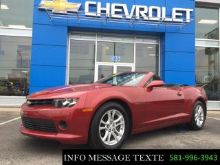 Used 2015 Chevrolet Camaro CONVERTIBLE LT for sale in Ste-Marie, QC