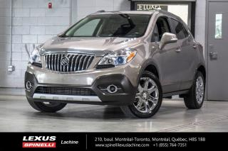 Used 2014 Buick Encore LEATHER GROUP AWD; CUIR TOIT CAMERA AUDIO BOSE DÉMARREUR À DISTANCE - TOIT-OUVRANT - AUDIO PREMIUM BOSE - MONITEUR ANGLES MORT - MAGS 18'' CHROME for sale in Lachine, QC