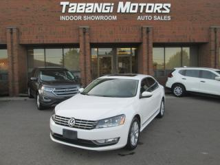 Used 2012 Volkswagen Passat TDI HIGHLINE NO ACCIDENTS LEATHER SUNROOF HEATED SEATS BT for sale in Mississauga, ON