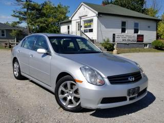 Used 2006 Infiniti G35 LOW KMS G35x AWD 3.5L Sunroof Leather Power Heated Seats for sale in Sutton, ON