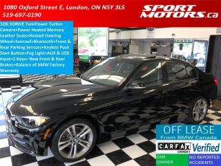 Used 2016 BMW 3 Series 320i xDrive+Camera+GPS+Sunroof+Leather w/Red for sale in London, ON