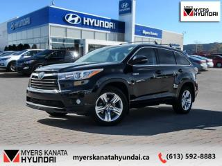 Used 2016 Toyota Highlander HYBRID Limited  - $244 B/W for sale in Kanata, ON