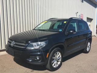 Used 2017 Volkswagen Tiguan Wolfsburg Edition WOLFSBURG EDITION | ALL WHEEL DRIVE | AC + POWER OPTIONS | BACKUP CAMERA | LEATHER INTERIOR for sale in Charlottetown, PE