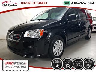 Used 2017 Dodge Grand Caravan CVP* GROUPE ELECTRIQUE* BIZONE* A/C* for sale in Québec, QC