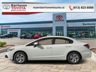 Used 2015 Honda Civic Sedan LX  - Bluetooth -  Cruise Control - $100 B/W for sale in Ottawa, ON