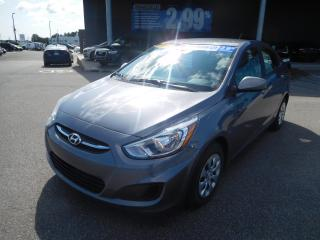 Used 2016 Hyundai Accent GL,A/C,BANC CHAUFFANT,BLUETOOTH,VITRE ÉLECT,CRUISE for sale in Mirabel, QC
