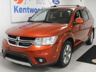 Used 2014 Dodge Journey RT AWD with power seats, sunroof, push start/stop, back up cam, and NAV for sale in Edmonton, AB
