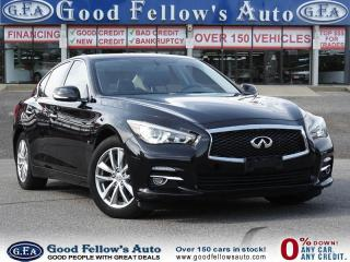 Used 2015 Infiniti Q50 6CYL 3.7L, AWD, LEATHER&POWER SEATS, SUNROOF, NAVI for sale in Toronto, ON