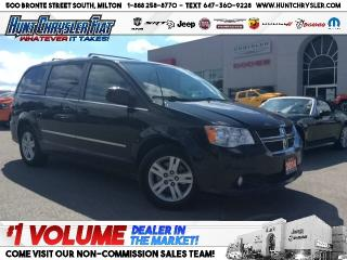 Used 2014 Dodge Grand Caravan CREW | DUAL DVD | STOW N GO | LEATHER | NAV & LOAD for sale in Milton, ON