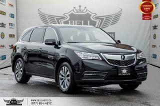 Used 2016 Acura MDX Nav Pkg, AWD, BACK-UP CAM, SUNROOF, SENSORS, COLLISION PREV for sale in Toronto, ON
