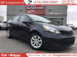 Used 2015 Kia Rio LX+ | HTD SEATS | BLUETOOTH | for sale in Georgetown, ON