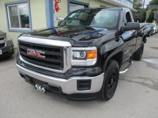 Used 2014 GMC Sierra 1500 READY TO WORK SL MODEL 3 PASSENGER 4.3L - V6.. 4X4.. REGULAR CAB.. 8-FOOT LONG BOX.. BLUETOOTH SYSTEM.. TOW SUPPORT.. AUX/USB INPUT.. for sale in Bradford, ON