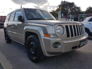 Used 2010 Jeep Patriot SPORT -EXTRA CLEAN-4 CYL-WINTER TIRES-AUX-WARRANTY for sale in Scarborough, ON