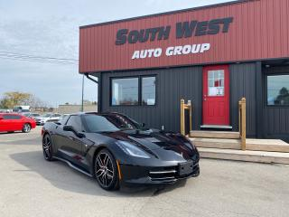 Used 2017 Chevrolet Corvette Stingray|CustomBorlaExhaust|Black on Red|BackUpCam for sale in London, ON