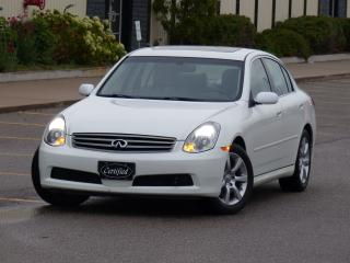 Used 2006 Infiniti G35 LUXURY,NO-ACCIDENTS,LEATHER,HEATEDSEAT,FULL OPTION for sale in Mississauga, ON