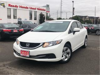 Used 2015 Honda Civic Sedan LX -  Rear Camera - Heated Seats for sale in Mississauga, ON