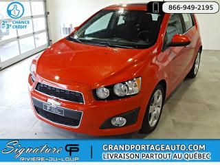 Used 2012 Chevrolet Sonic AUTOMATIQUE, SANS ACCIDENT,LT for sale in Rivière-Du-Loup, QC