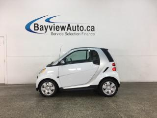 Used 2015 Smart fortwo Pure - AUTO! HTD LEATHER! NAV! ONLY 4800KMS! for sale in Belleville, ON