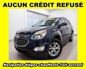 Used 2016 Chevrolet Equinox LT SIÈGES CHAUFFANTS TOIT OUVRANT NAV *BAS KM* for sale in Mirabel, QC