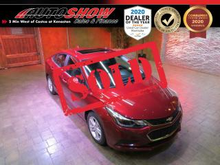 Used 2016 Chevrolet Cruze Winnipeg - Htd Seats, S.Roof, B.Up Cam, Bose!! for sale in Winnipeg, MB