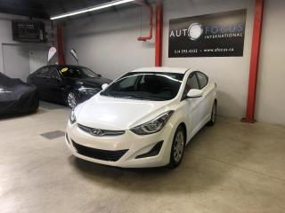 Used 2016 Hyundai Elantra GL, AUTOMATIQUE, A/C, BLUETOOTH, 4 PORTE for sale in Montréal, QC