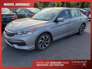 Used 2016 Honda Accord LX ** Inspection certifié ** for sale in Longueuil, QC