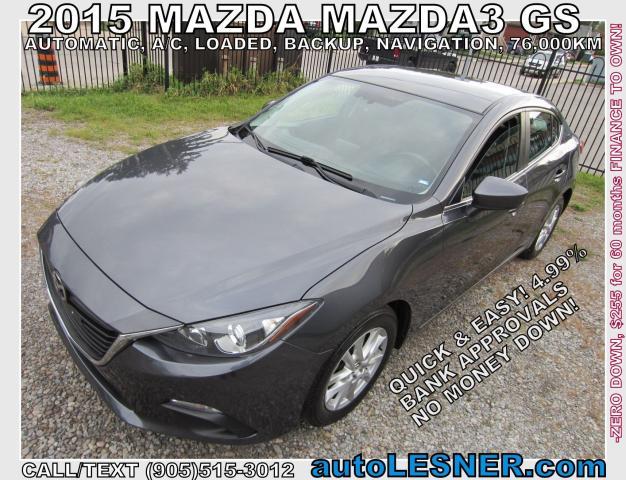 2015 Mazda MAZDA3 -ZERO DOWN, $255 for 60 months FINANCE TO OWN!