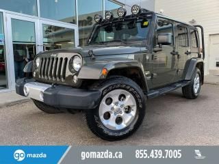 Used 2015 Jeep Wrangler Unlimited SAHARA UNLIMITED LOADED LOW KM VERY NICE for sale in Edmonton, AB