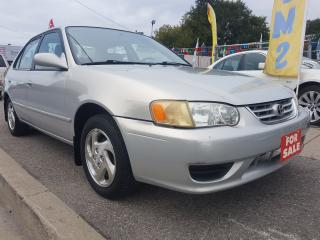 Used 2001 Toyota Corolla LE- MINT- ONLY111KM- 4CYL-GAS SAVER-ALLOYS for sale in Scarborough, ON